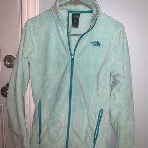 The North Face Jackets & Coats - EUC NORTH FACE TEAL ZIP JACKET SIZE SMALL